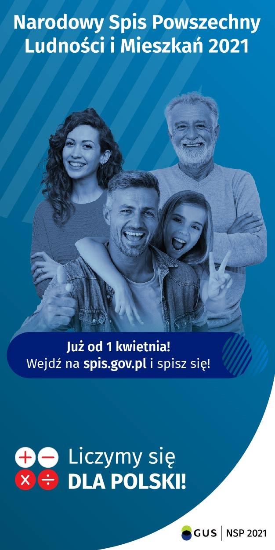 Plakat Narodowego Spisu Powszechnego 2021